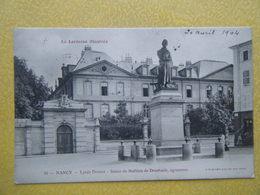 NANCY. Le Lycée Drouot Et La Statue De Mathieu De Dombasle. - Nancy