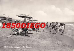 MONTESILVANO - LA SPIAGGIA F/GRANDE VIAGGIATA 1959 ? ANIMATA - Pescara