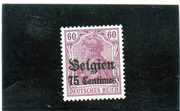 B - 1914 Germania - Occupazione Del Belgio (no Gum) - Zone Belge