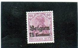 B - 1914 Germania - Occupazione Del Belgio (no Gum) - Zona Belga