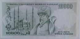 10000 Lir Tyrkey Tyrkish Lira 1989 - Turquie