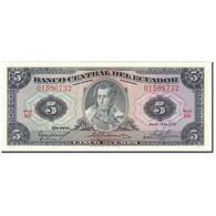 Billet, Équateur, 5 Sucres, 1975-03-14, KM:108a, SPL - Equateur