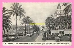 CPSM  CANNES  La Promenade De La Croisette  , Ses Hotels - Cannes