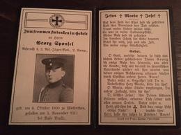 Sterbebild Wk1 Bidprentje Avis Décès Deathcard 2. RESERVE JÄGER St. MIHIEL BOIS BRULE Aus Wiesenthau - 1914-18
