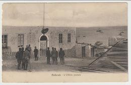407-Ex Colonie-Libia-Tobruk-Militaria-Guerra Italo Turca-Militari Davanti L' Ufficio Postale-v1912 X Rocchetta S.Antonio - Other Wars