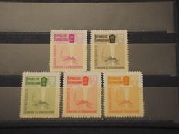 DOMINICANA - 1962 MALARIA/INSETTO  5 VALORI - NUOVI(++) - Repubblica Domenicana