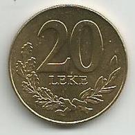Albania 20 Leke 2000. High Grade - Albania