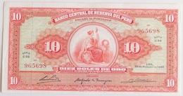 Peru 10 Soles De Oro 1965, UNC, World Paper Money P-88 - Pérou
