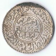 Maroc , Morocco ,  Marokko 1/2 Riyal 1336 AH Paris Silber Münze Coin - Marokko