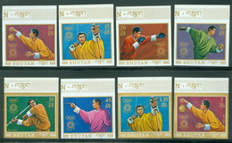Bhutan 514-521 Bloc 51 Imperf Munich Olympics, Neuf** Sans Charniere, Mint NH, Scott 147-147H - Bhutan