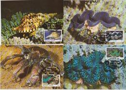 Marshall-Insen 1986 MK MiNr.73 - 76  Meerestiere  ( D 6316 ) Günstige Versandkosten - Marine Life