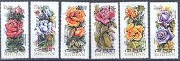 Bhutan 545-550 Bloc 57 Flora, Neuf** Sans Charniere, Mint NH, Scott 150-150F - Bhutan
