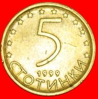 # LION: BULGARIA ★ 5 STOTINKAS 1999 NON-MAGNETIC! LOW START ★  NO RESERVE! - Bulgarie