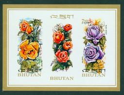 Bhutan 57 Flora SS, Imperf Neuf** Sans Charniere, Mint NH, Scott 150F - Bhutan