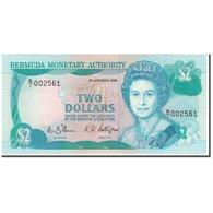 Billet, Bermuda, 2 Dollars, 1988-10-01, KM:34a, NEUF - Bermudes