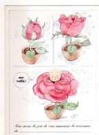 Monique TOUVAY Naissance, Bebe Dans Rose, Faire Part - Autres Illustrateurs