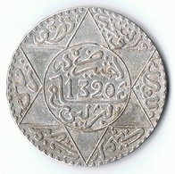 Maroc , Morocco ,  Marokko 1/2 Riyal 1320 Berlin AH Silber Münze Coin - Marokko