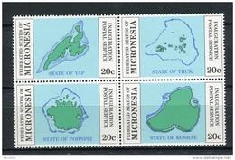 Micronesia 1984. Yvert 17-20 ** MNH. - Micronésie