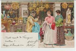 207-Mestieri: Antiquario-Firmata R.Tafuri-Venezia-v.1901 X Catania - Paesani