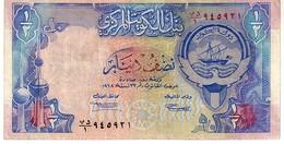 Kuwait P.24 1/2  Dinar 1992 Vf - Kuwait