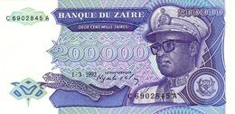 Zaire P.42 200000 Zaires 1992  Unc - Zaire