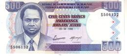 Burundi P.37a 500 Francs 1995  Unc - Burundi