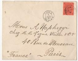LETTRE DE 1897 POUR PARIS - Hong Kong (...-1997)