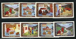Bhutan 575-582 Bl 63 Mail Service, Neuf** Sans Charniere, Mint NH, Scott 155-155H - Bhutan