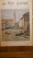 LE PETIT JOURNAL SUPPLEMENT ILLUSTRE  1897 LA CATASTROPHE DE VOIRON ET NOS SOLDAT A LA CANEE - Newspapers