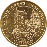 37 CHINON FORTERESSE MÉDIÉVALE TOUR DE L'HORLOGE MÉDAILLE MONNAIE DE PARIS 2000 JETON TOKENS MEDALS - Monnaie De Paris