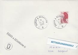 LSC 1988 - Ambulant - Cachet Convoyeur Et Griffe   PARIS à BESANCON - D- - Postmark Collection (Covers)