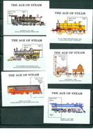 Bhutan 810-821 Trains, Complete Set/12 Neuf** Sans Charniere, Mint NH, Scott 810-821 - Bhutan