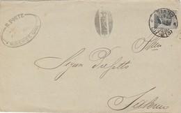 Siano. 1926. Annullo Frazionario (57 - 213) + Annullo MUNICIPIO DI SIANO, Su Lettera Affrancata Con C.30 - 1900-44 Victor Emmanuel III
