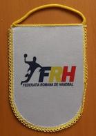 Pennant Handball Federation Of ROMANIA Flag Association 15x20.5cm Typ II. - Handball