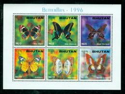 Bhutan 1123 Butterflies, Neuf** Sans Charniere, Mint NH, Scott 1123 - Bhutan
