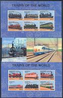 Bhutan 1131-1134, 1117-28,  Trains, Neuf** Sans Charniere, Mint NH, Yvert 1117-28 + 2 SS - Bhutan