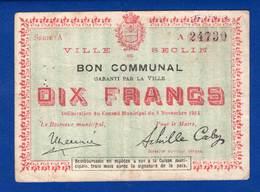 Seclin  59/2307  10  Fr  8/11/1914 - Bons & Nécessité