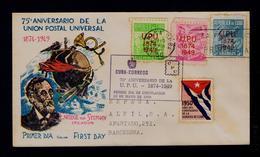U.P.U. Overprint Surcharge CUBA (1874-1949) Fdc1950 (vignette Flag Drapeaux) Enrique Von Stephan Gc3687 - UPU (Universal Postal Union)