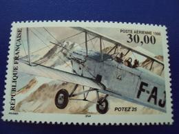"""1998        PA- N°62      -neuf     """" Biplan Potez 25    """"  13 X 12.5     Cote    10   Net  3.30 - 1960-.... Neufs"""