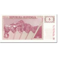 Billet, Slovénie, 5 (Tolarjev), 1990, UNdated (1990), KM:3a, SUP+ - Slovénie