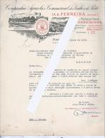 Port Wine.Letter Agricultural And Commercial Company Of Port Wine,1938.Store Gaya.Wine Ferreirinha.Drink.Glas Portwein.R - Liqueur & Bière