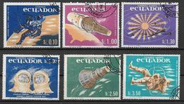 ECUADOR 1967 CONQUISTA DELLO SPAZIO YVERT. 755-756 + POSTA AEREA 453-456 USATA VF - Ecuador