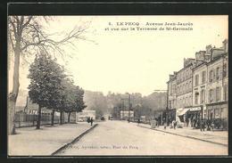 CPA Le Pecq, Avenue Jean-Jaurès Et Terrasse De St-Germain - Le Pecq