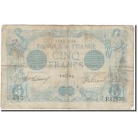 France, 5 Francs, 5 F 1912-1917 ''Bleu'', 1916, B, Fayette:2bis.4, KM:70 - 1871-1952 Anciens Francs Circulés Au XXème
