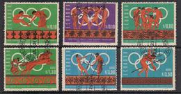 ECUADOR 1967 GIOCHI OLIMPICI IN MESSICO YVERT. 766-768 + POSTA AEREA 469-471 USATA VF - Ecuador