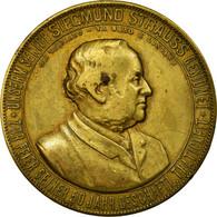 Allemagne, Médaille, Musique, Siegmund Strauss, 1887, TTB, Bronze - Allemagne