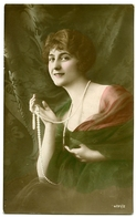 PRETTY GIRL WITH PEARL NECKLACE - Fancy Cards