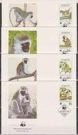 St. Kitts1986 FDC MiNr.184 - 187 Grüne Meerkatze  ( D 6322 ) Günstige Versandkosten - St.Kitts Und Nevis ( 1983-...)