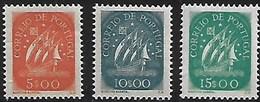 Portugal 1943 Caravela  3 Selos Novos MF629/631, Das Taxas 5$, 10$ E 15$00 Novos - 1910-... République