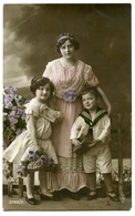 MOTHER WITH CHILDREN (HAND-COLOURED) - Women